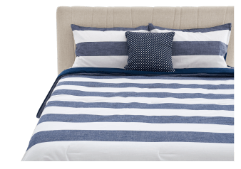 Comforter Set - Queen Size - Blue and White product photo