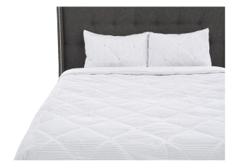 Comforter Set - Queen Size - White and Grey product photo