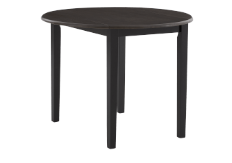 Wood Rectangular Table with Drop-Leaf - Black product photo