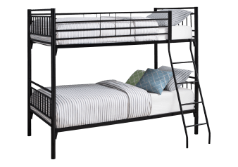 Metal Bunk Bed - Black - Twin Size product photo