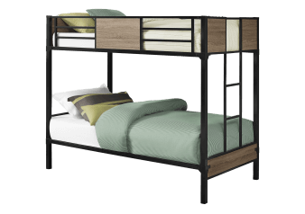 Bunk Bed - Dark Brown Grey - Twin Size product photo