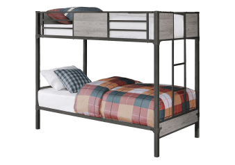 Metal Bunk Bed - Dark Grey - Twin Size product photo