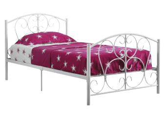 Metal Twin Kid Bed - White product photo