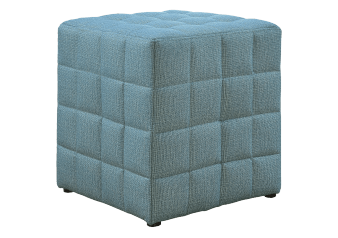 Fabric Ottoman - Blue product photo
