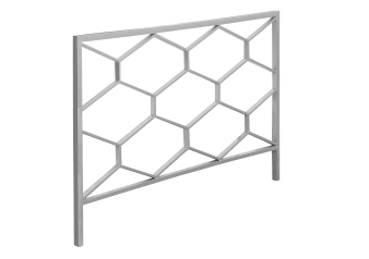 Metal Headboard - Silver Grey - Full Queen Size product photo