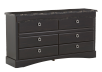 6 Drawer Dresser - Dark Brown product photo