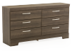 6 Drawer Dresser - Grey product photo