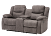 Fabric Reclining Loveseat with Console - Grey product photo