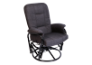 Swivel Rocker Fabric Recliner - Dark Grey product photo