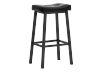 Stool with Laminated Leather Seat - Dark brown product photo other01 S