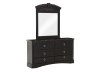6 Drawer Dresser and Matching Mirror - Dark Brown product photo