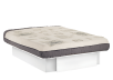 Platform Bed with One Storage Drawer - White - Queen Size product photo