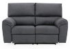 Elran Fabric Reclining Motorized Loveseat - Grey product photo