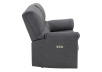 Elran Fabric Reclining Motorized Loveseat - Grey product photo other02 S