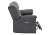 Elran Fabric Reclining Motorized Loveseat - Grey product photo other03 S