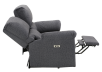 Elran Fabric Reclining Motorized Loveseat - Grey product photo other05 S