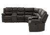 Reclining Electric Fabric Sectional Sofa with Consoles - Dark Grey product photo