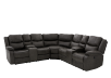 Reclining Electric Fabric Sectional Sofa with Consoles - Dark Grey product photo other01 S