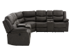 Reclining Electric Fabric Sectional Sofa with Consoles - Dark Grey product photo other02 S