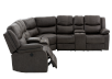 Reclining Electric Fabric Sectional Sofa with Consoles - Dark Grey product photo other03 S
