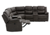 Reclining Electric Fabric Sectional Sofa with Consoles - Dark Grey product photo other04 S