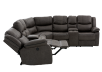 Reclining Electric Fabric Sectional Sofa with Consoles - Dark Grey product photo other05 S