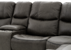 Reclining Electric Fabric Sectional Sofa with Consoles - Dark Grey product photo other06 S