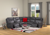 Reclining Motorized Sectional Sofa - Grey product photo other11 S