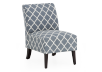 Fabric Accent Chair - Blue White product photo