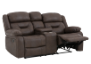 Fabric Reclining Loveseat with Console - Dark Brown product photo other01 S