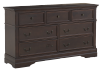 7 Drawer Dresser - Brown product photo