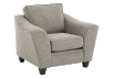 Fabric Armchair - Grey product photo other01 S