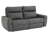 Elran Reclining Electric Sofa with Genuine Leather Seats and Adjustable Headrests - Dark Grey product photo other01 S