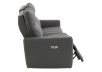 Elran Reclining Electric Sofa with Genuine Leather Seats and Adjustable Headrests - Dark Grey product photo other03 S