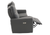 Elran Reclining Electric Sofa with Genuine Leather Seats and Adjustable Headrests - Dark Grey product photo other04 S