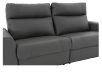 Elran Reclining Electric Sofa with Genuine Leather Seats and Adjustable Headrests - Dark Grey product photo other06 S
