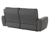 Elran Reclining Electric Sofa with Genuine Leather Seats and Adjustable Headrests - Dark Grey product photo other08 S