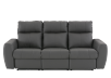 Elran Reclining Electric Sofa with Genuine Leather Seats and Adjustable Headrests - Dark Grey product photo
