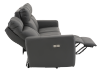 Elran Reclining Electric Sofa with Genuine Leather Seats and Adjustable Headrests - Dark Grey product photo other05 S