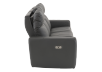 Elran Reclining Electric Sofa with Genuine Leather Seats and Adjustable Headrests - Dark Grey product photo other10 S