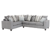 Fabric Sectional Sofa with Decorative Pillows - Grey product photo other01 S