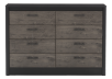 8 Drawer Dresser - Black and Brown Grey product photo