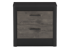 Nightstand - Black and Brown Grey product photo