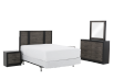 Bedroom Set - Black and Brown Grey - Queen Size product photo