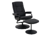 Swivel Recliner with Ottoman - Black product photo other01 S