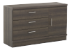 3 Drawer Dresser - Brown Grey product photo