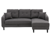 Fabric Sectional Sofa-Bed with Decorative Pillows - Grey product photo