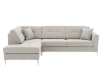Fabric Sectional Sofa with Decorative Pillows - Beige product photo