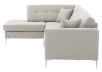 Fabric Sectional Sofa with Decorative Pillows - Beige product photo other02 S
