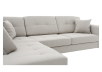 Fabric Sectional Sofa with Decorative Pillows - Beige product photo other03 S